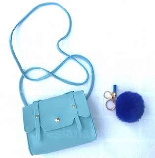 Hailey sling bag for kids + free fur keychain