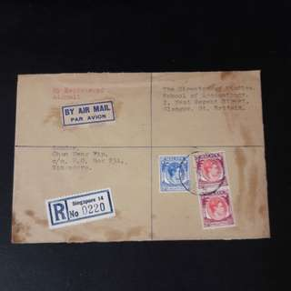 Singapore 1954 Cover By air mail