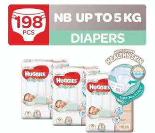 Limited time sale - Huggies Diapers - NB to XL warehouse carton sales