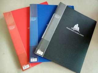 Clear book folder