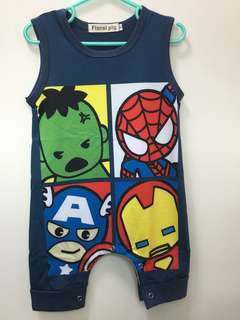 🚚 Baby Cartoon Sleeveless Romper