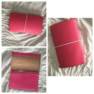Matte Pink Wide Traveler's Notebook (Midori Style)