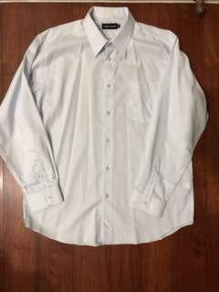 🚚 PIERREI HEDINON 長袖 淺藍襯衫 17