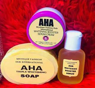 AHA Soap, cream,serum set