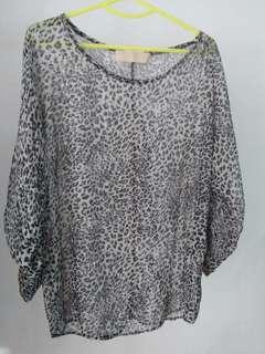 Blouse leopard abu