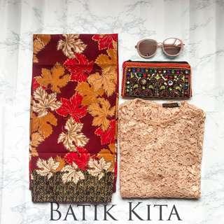 Batik Pario Maple Maroon