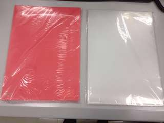 A4 file - 紅色&透明色 (17個)