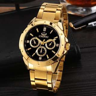 Sale- men's gold watch男裝錶