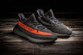 🚚 Adidas yeezy boost 350 V2 灰橘 8.5號 8-9成新 保證正品公司貨