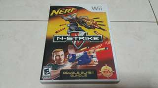 Wii Nerf N strike double blast bundle