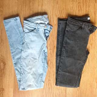 Uniqlo skinny jeans - price for both