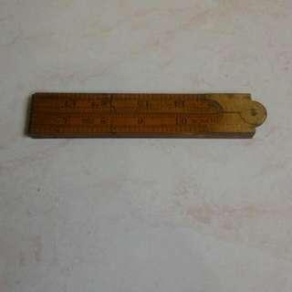 Antique Foldable Wooden Ruler