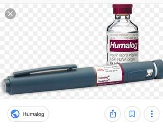 Humalog pen for diabetes monitoring