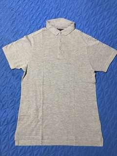 Light Gray T Shirt with Collar