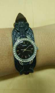 Guess black leather
