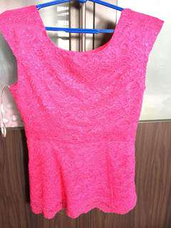 F21 pink tops