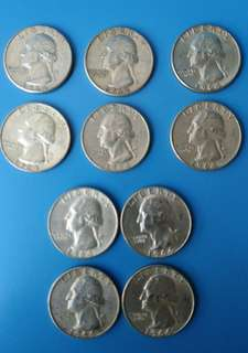 美國銀幣10個