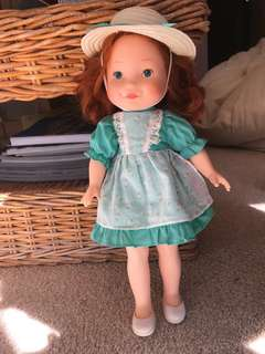 Vintage Fisher Price Becky Doll and various clothing items