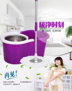 Spin Mop 5 PCs plus stainless steel drainer bucket