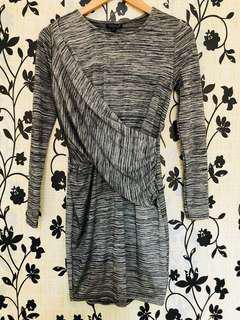 Topshop Draped Dress