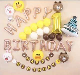 Line friends birthday celebration decorations