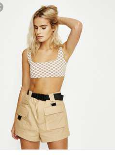 I.am.gia checkered crop dup