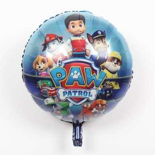 """PAW PATROL 18"""" FOIL BALLOON 12 pcs"""