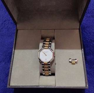 Authentic dior watch two tone