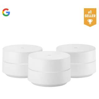 [IN-STOCK] Google Wifi (3-Pack) - 1 Year Local Warranty comes with 3x Free Adapters (Export Set - USA)