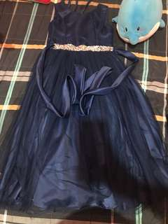 Navy blue girls gown