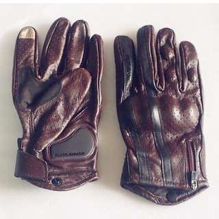 Brand New KOMINE Authentic Leather Motorcycle Gloves, safety & innovation * Motocross * Scrambler * Offroad * Dirt Bike * Instock size L *