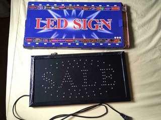 SALE light signage