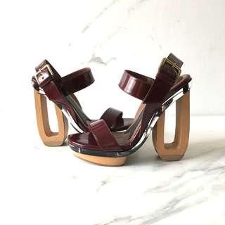 Marni Maroon Sandals