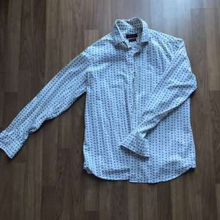 Massimo Dutti Sailor white long sleeves button shirt