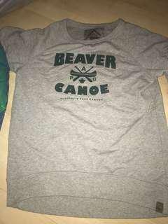 Beaver canoe grey shirt