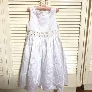 white dress 76cm length