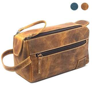 🚚 💯 Leather Men's Toiletry Bag