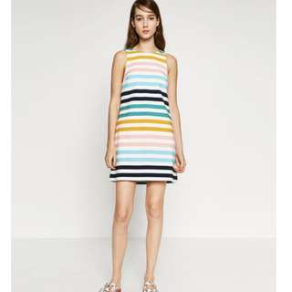 ZARA colourful midi casual work sleeveless dress
