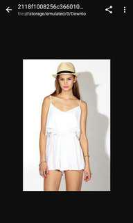 Supre White Strappy Playsuit