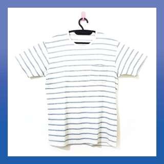 (Tshirt Blue Stripes Uniqlo) Kaos Stripes Biru Uniqlo