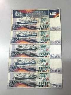 Old Notes Ship Series $50 / 5pcs