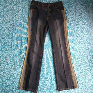 Jeans semi cutbray