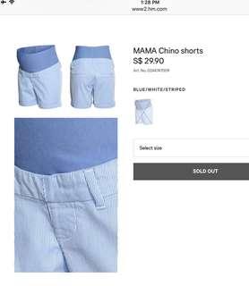 Maternity shorts - H&M MAMA CHINO SHORTS
