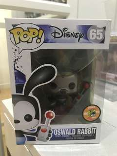 Metallic Oswald Rabbit sdcc2013 limited 1008 funko pop