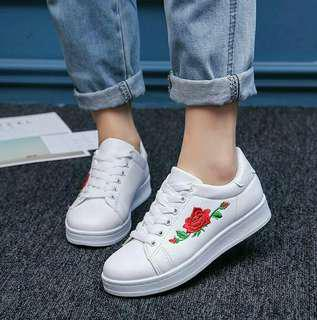 FREE POSTAGE! Rose Embroidery Sneakers