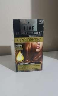 Warm Copper hair dye