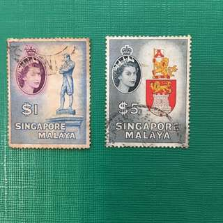 Singapore Malaya Old Stamps