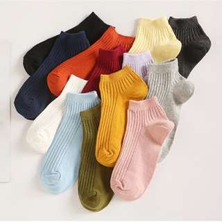 Korean Candy Knitted Low Cut Socks