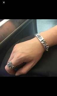 Chrome Hearths 925純銀手鏈+戒指