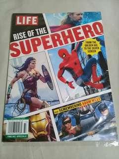 Life Magazine - Rise of the Superheroes Thor Wonder Woman Spiderman Iron Man Batman